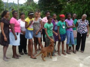 Jamaica - Melody House - group shot of girls with dog