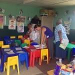 Volunteering at a school