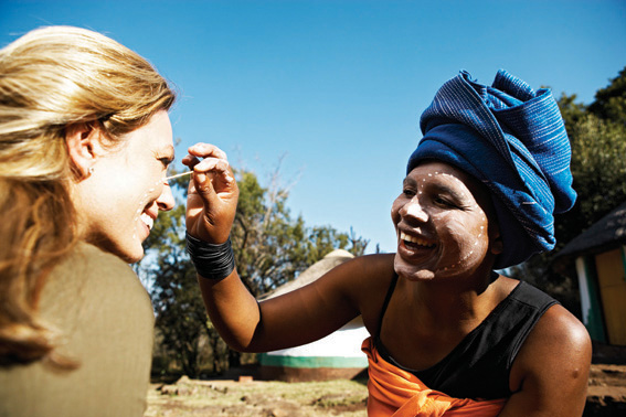 Face painting in South Africa