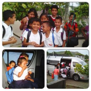 Nicaragua children going to school