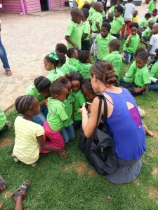 Students at Mpuemelolo School in South Africa