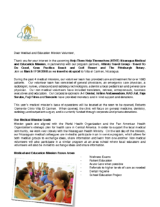 2018 Nica Med Mission Letter of Invitation 2