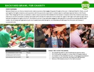 Backyard Brawl For Charity