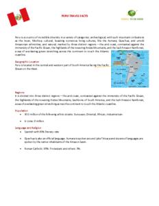 Peru travel facts